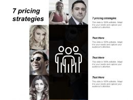 7 Pricing Strategies Ppt Powerpoint Presentation Pictures Graphics Example Cpb