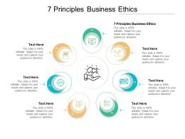 7 Principles Business Ethics Ppt Powerpoint Presentation File Graphic Tips Cpb