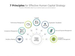 7 Principles For Effective Human Capital Strategy