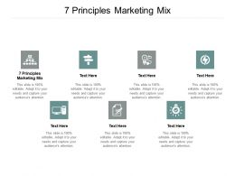 7 Principles Marketing Mix Ppt Powerpoint Presentation Model Tips Cpb