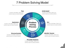 7 Problem Solving Model Powerpoint Slide Clipart