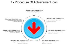 7 Procedure Of Achievement Icon