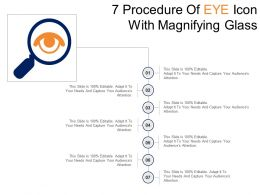 7 Procedure Of Eye Icon With Magnifying Glass