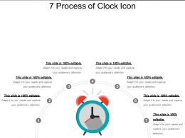 7 Process Of Clock Icon Sample Of PPT Presentation