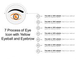 7 Process Of Eye Icon With Yellow Eyeball And Eyebrow