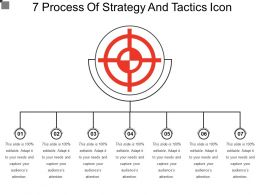 7 Process Of Strategy And Tactics Icon