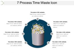 7 Process Time Waste Icon Ppt Templates