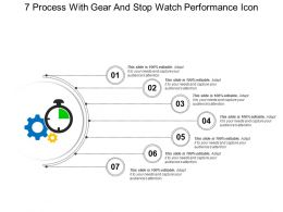 7 Process With Gear And Stop Watch Performance Icon
