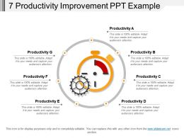 7 Productivity Improvement Ppt Example