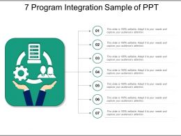 7 Program Integration Sample Of Ppt