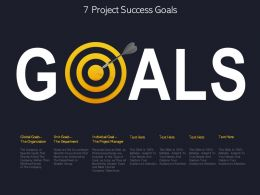7 Project Success Goals
