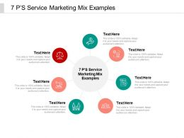 7 PS Service Marketing Mix Examples Ppt Powerpoint Presentation File Icons Cpb
