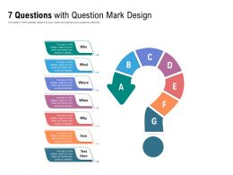 7 Questions With Question Mark Design