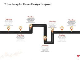 7 Roadmap For Event Design Proposal Ppt Powerpoint Presentation File Clipart Images