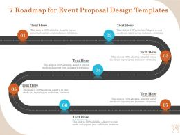 7 Roadmap For Event Proposal Design Templates Ppt File Display
