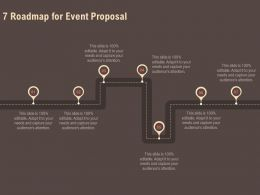 7 Roadmap For Event Proposal Ppt Powerpoint Presentation File Display