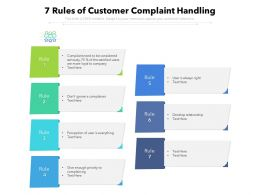 7 Rules Of Customer Complaint Handling