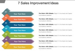 7 Sales Improvement Ideas Powerpoint Slide Deck