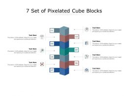 7 Set Of Pixelated Cube Blocks