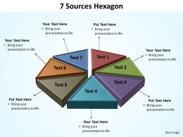 7 sources hexagon powerpoint diagram templates graphics 712
