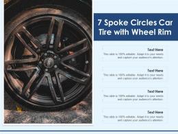 7 Spoke Circles Car Tire With Wheel Rim