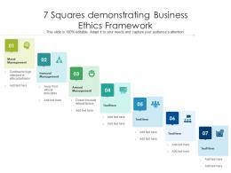 7 Squares Demonstrating Business Ethics Framework
