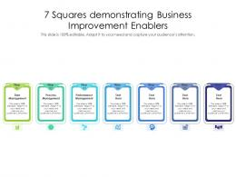 7 Squares Demonstrating Business Improvement Enablers