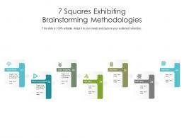 7 Squares Exhibiting Brainstorming Methodologies