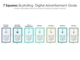 7 Squares Illustrating Digital Advertisement Goals