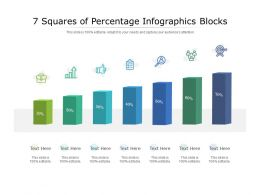 7 Squares Of Percentage Infographics Blocks