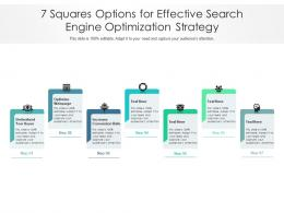 7 Squares Options For Effective Search Engine Optimization Strategy