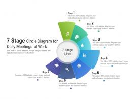 7 Stage Circle Diagram For Daily Meetings At Work Infographic Template