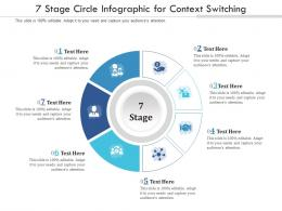 7 Stage Circle For Context Switching Infographic Template