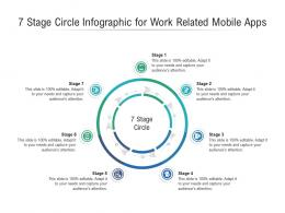 7 Stage Circle For Work Related Mobile Apps Infographic Template