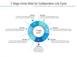 7 Stage Circle Slide For Collaboration Life Cycle Infographic Template