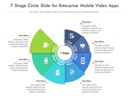 7 Stage Circle Slide For Enterprise Mobile Video Apps Infographic Template