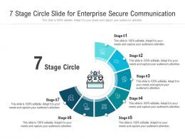 7 Stage Circle Slide For Enterprise Secure Communication Infographic Template