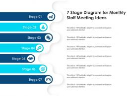 7 Stage Diagram For Monthly Staff Meeting Infographic Template