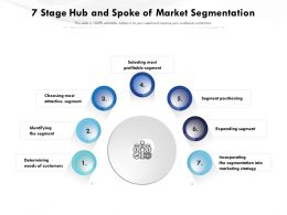 7 Stage Hub And Spoke Of Market Segmentation