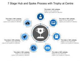 7 Stage Hub And Spoke Process With Trophy At Centre