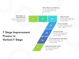 7 Stage Improvement Process In Vertical 7 Stage
