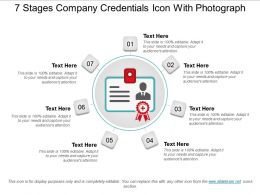 7 Stages Company Credentials Icon With Photograph