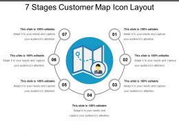7 Stages Customer Map Icon Layout