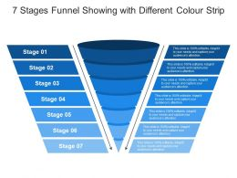 7 Stages Funnel Showing With Different Colour Strip
