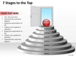 7 Stages To The Top powerpoint Slides templates