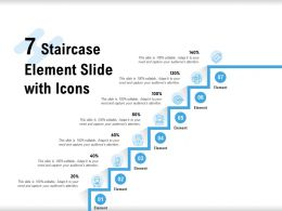 7 Staircase Element Slide With Icons