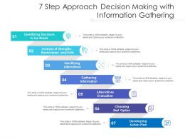 7 Step Approach Decision Making With Information Gathering