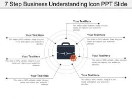 7 Step Business Understanding Icon Ppt Slide