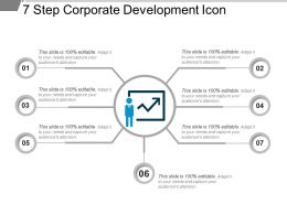 7 Step Corporate Development Icon Powerpoint Slides