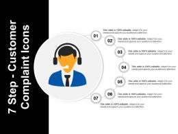 7 Step Customer Complaint Icons Powerpoint Slide Deck